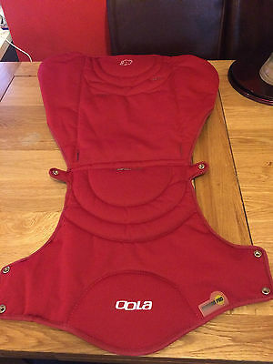 Bebe Confort Loola/Up stroller **Seat cover** IN RED/BLACK rev side   ref 1