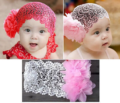 New Kids Baby Girl Headband Toddler Lace Flower Hair Band Accessories Headwear