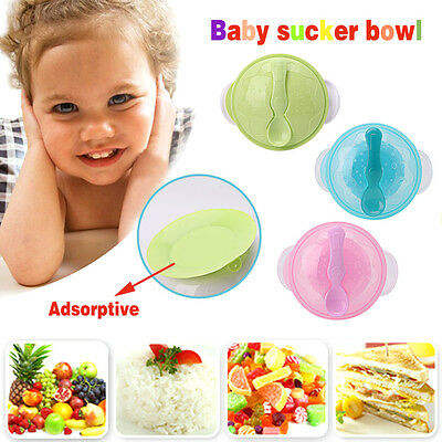 Baby Kids Suction Cup Bowl Slip-resistant Tableware Set Sucker Children Bowl Hot