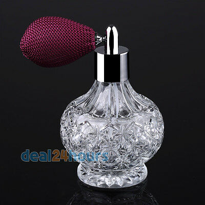 Vintage Perfume Spray Empty Refillable Bottle Atomizer Diffuser 80ml Short Pump