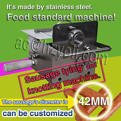 42mm sausage diameter,hand-rolling food standard sausage tying/knotting machine