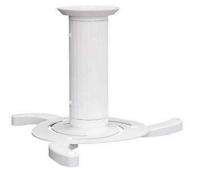 Universal Projector Beamer Ceiling Mount Cylindrical Bracket 360° Max 10Kg White