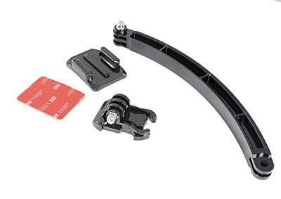 Phot-R Helmet Arm Extension Curved Adhesive Mount Self Filming for GoPro 5 4 3+