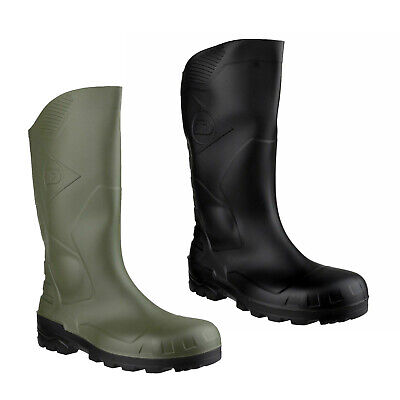 Dunlop Devon Black OR Green Safety Wellingtons Boots Work Farm Wellies