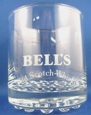 BELLS Scotch Whisky (10) VG glass tumblers set with BOBBLE BASE Man Cave - AUST