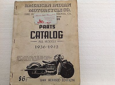 American Indian Motorcycle Co. parts catalog 1936-1942 Models