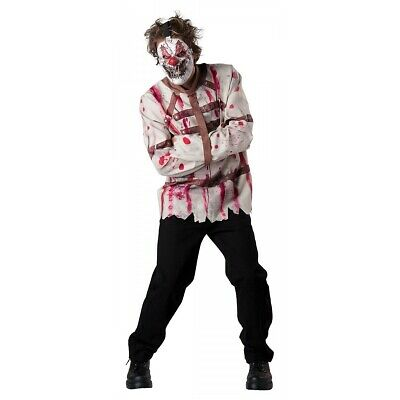 Scary Clown Costume Adult Circus Psycho Halloween Fancy Dress