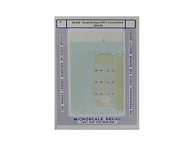 N Great Northern RS-1 Locomotives 1944-60 Decals - Microscale #60-808