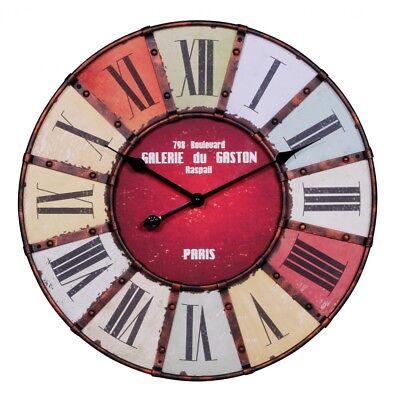 Large vintage style design wall kitchen clock 60 cm rustic modern look new • £44.64