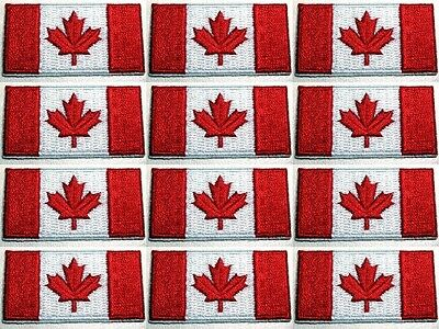 Canada Army - Canadian Forces uniform shoulder lot 12 flags badge  iron-on