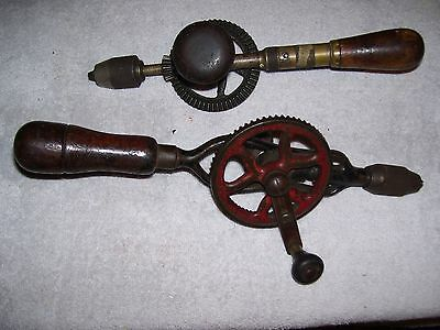 ANTIQUE COLLECTIBLE HAND DRILLS LOT OF 2