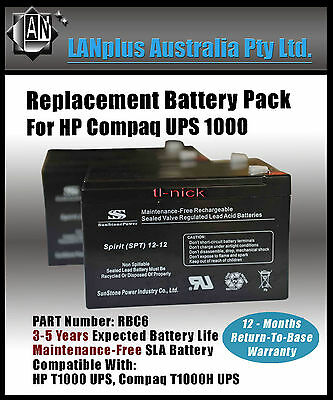 NEW Replacement Battery Pack for APC Smart UPS 1000 or IBM 1000 12-month wty