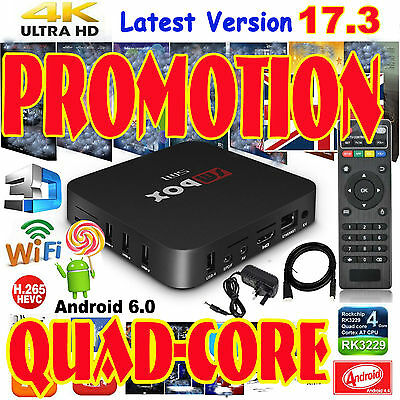 4K Quad Core Android TV Box Internet Media Player Wifi Ultra Sport Show Movies