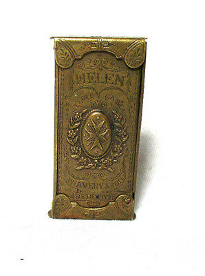 W. Avery & son, HELEN with Maltese Cross QUAD NEEDLE CASE;Original Antique c1869