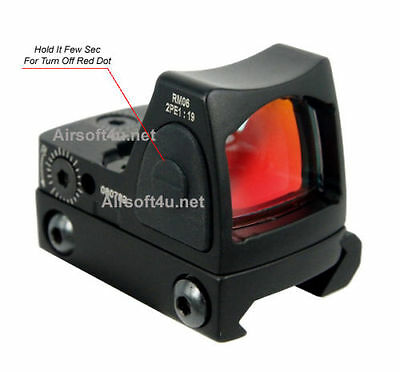 Tactical Airsoft Mini Micro RMR Style Red Dot Sight Scope w/ Side ON/OFF switch