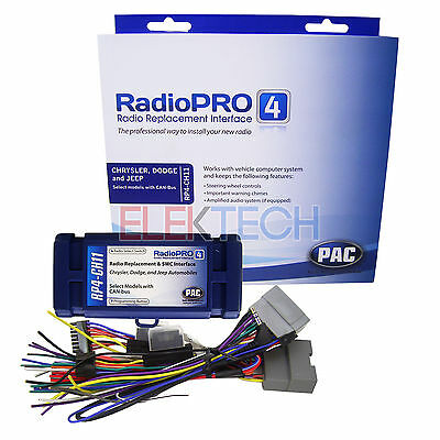 PAC RP4-CH11 Radio Replacement Interface for Chrysler Dodge Jeep Retain Controls