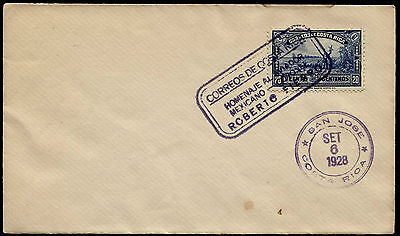 Costa Rica 1928 Special Cancellation Stamped Envelope (1
