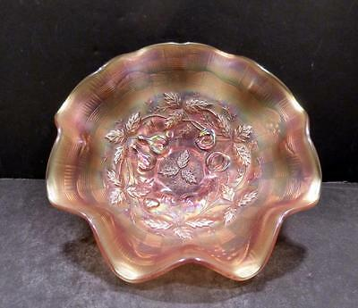 Northwood Carnival Three Fruits Medallion Marigold Collar Based Bowl -  MINT