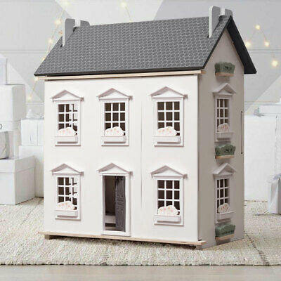 Large Barbie Wooden Dolls House Kids Doll House 17PCS Furniture & Lift - Cottage