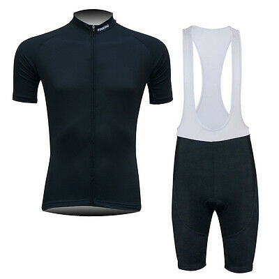 New Hipster Mens Bike Cycling Tops Jersey Bib Shorts Tights Outfits Black Hot