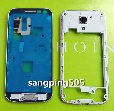 -Front Bezel Panel Middle Cover Housing Frame Samsung Galaxy S4 Mini i9190 i9195