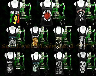 Bob Marley Red Hot Chili Papers Punk Rock Bands Shirt Tank Top Woman's Sizes