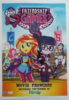 NEW  MY LITTLE PONY FRIENDSHIP GAMES   2015  SDCC  Poster  12 x 18
