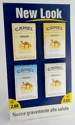 CAMEL New Look 2001 ITALY stand-up 4 dummy packs ☆ shop display not for sale
