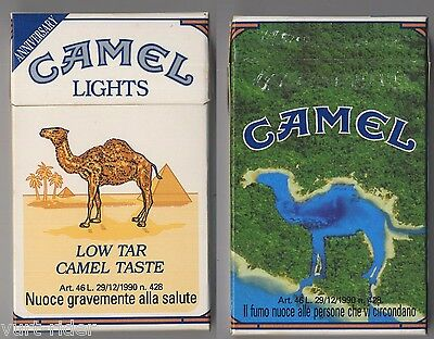 CAMEL LIGHTS cigarette Italy empty pack ANNIVERSARY 1993 #5 Il fumo nuoce all...