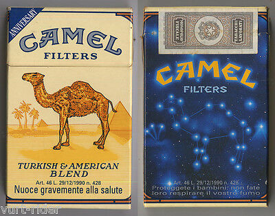 CAMEL FILTERS cigarette Italy empty pack ANNIVERSARY 1993 #1 proteggete i bam...