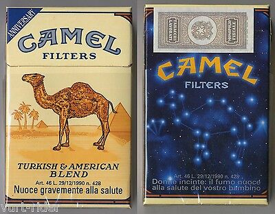 CAMEL FILTERS cigarette Italy empty pack ANNIVERSARY 1993 #1 Donne incinte...