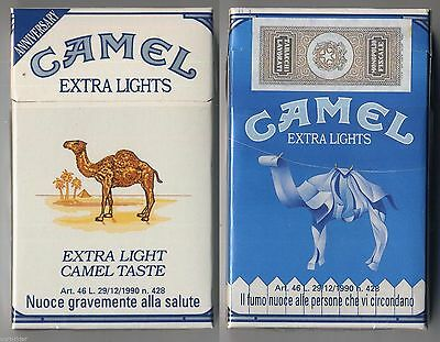CAMEL EXTRA LIGHTS cigarette Italy empty pack ANNIVERSARY 1993 #9 Il fumo nuoce