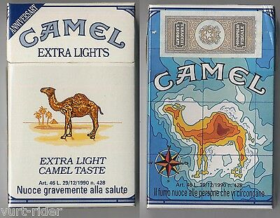CAMEL EXTRA LIGHTS cigarette Italy empty pack ANNIVERSARY 1993 #11 il fumo nuoce
