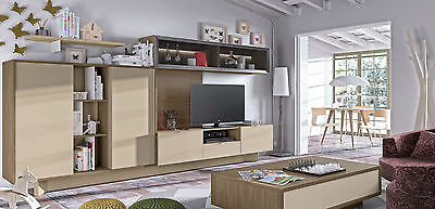 318x173x41 cm mit viel stauraum design wohnwand by ambiato de. Black Bedroom Furniture Sets. Home Design Ideas