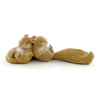 Miniature Garden Sleeping Squirrels TO 4353 Dollhouse  Fairy Gnome