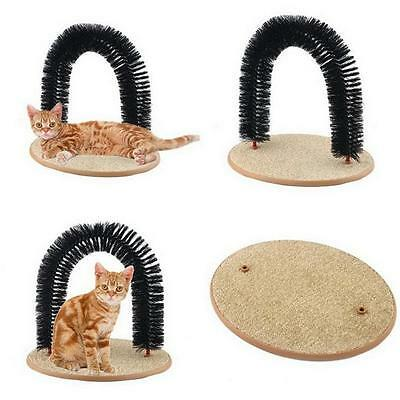Pet Cat Toy Plastic Scratch Bristles Purrfect Arch Self-Groomer and Massager XG