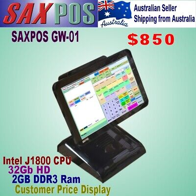 SAXPOS 156N3 (All-In-One) Touch Terminal CJ1800 2GB 32GB SSD Rear Price Display