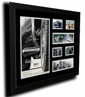 Fast And Furious 7 Cast Paul Walker Signed Limited Edition Framed Memorabilia