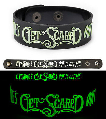 GET SCARED Rubber Bracelet Wristband Glows in the Dark