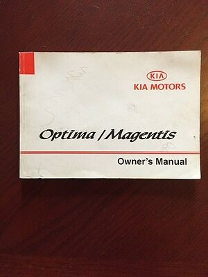 KIA OPTIMA MAGENTIS GLOVEBOX HANDBOOK years 2000 2001 2002 2003 2004 2005