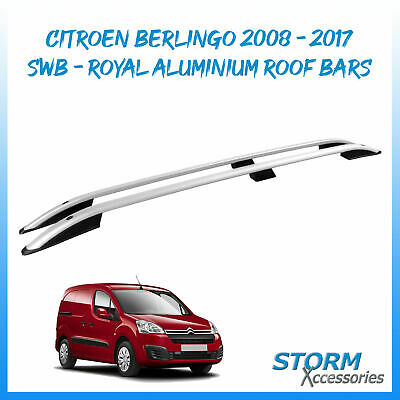 Citroen BERLINGO 2008 onwards ROYAL Aluminium Roof Bars - Roof Rails Set - SWB