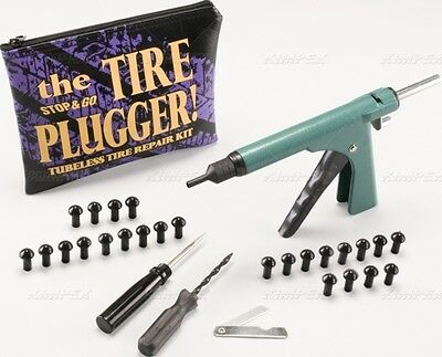 New Atv Motorcycle Tire Plugger Repair Gun Fix Flats Fast! Comes With 25 Plugs