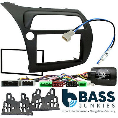 Honda Civic FN2 2006-11 LHD Car Stereo Double Din Fascia & Steering Kit CTKHD01L