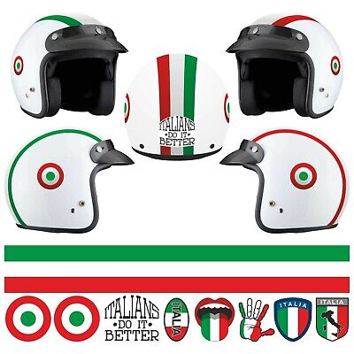 Kit Italia STICKER CASCO ADESIVO DECAL MOTO SCOOTER STRISCE HELMET PVC TUNING