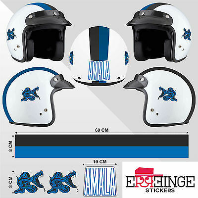 Kit Inter STICKER CASCO ADESIVO DECAL MOTO SCOOTER STRISCE HELMET PVC TUNING