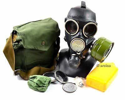 Soviet russian gas mask GP-7 V. Black rubber. New full set S M L sizes.