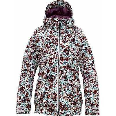 Burton TWC Womens HOT TOTTIE JACKET Bright White - Floral Melt Print