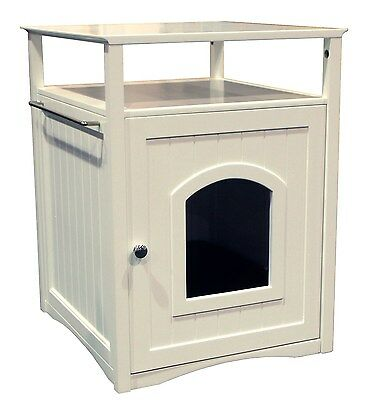 Merry Products Pet House and Litter Box White Small