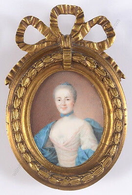 """Mme Judith Gessner, wife of Swiss artist Salomon Gessner"", miniature, 1760/65"