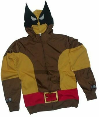 0d31a334 Adult Men's Marvel Comics X-Men Wolf Wolverine Brown Costume Hoodie  Sweatshirt